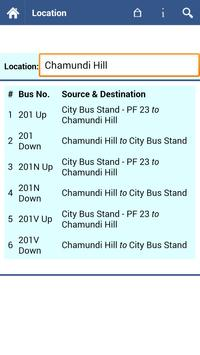 Mysore Bus Info screenshot 3