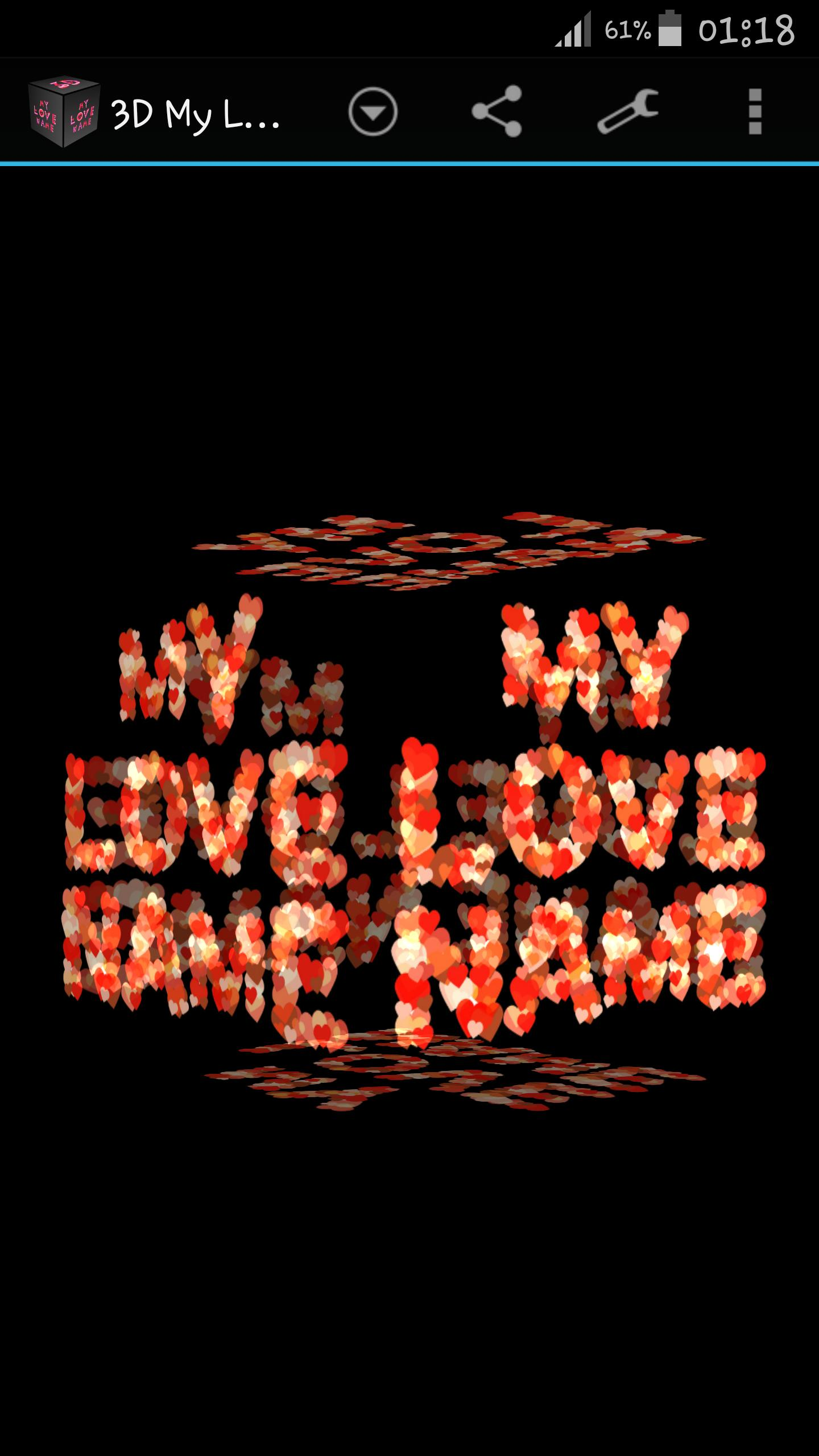 3d My Name Love Live Wallpaper For Android Apk Download