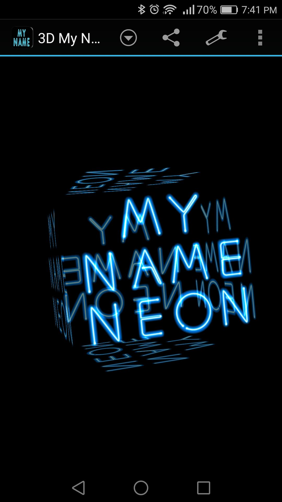 3D My Name Neon Live Wallpaper for Android - APK Download