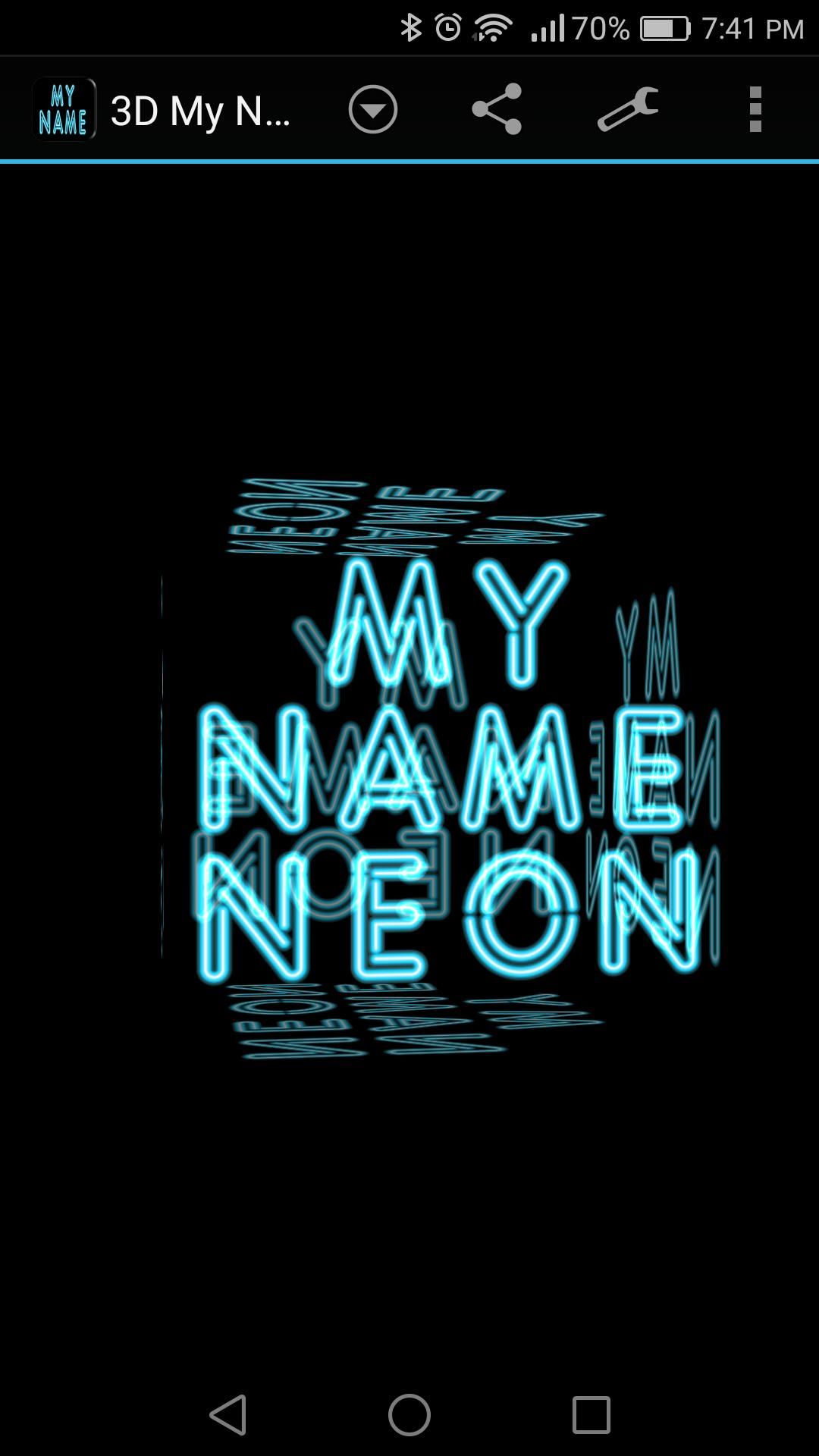 3D My Name Neon Live Wallpaper For Android APK Download