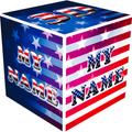 3D My Name Patriotic USA LWP