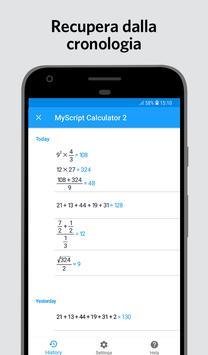 4 Schermata MyScript Calculator 2