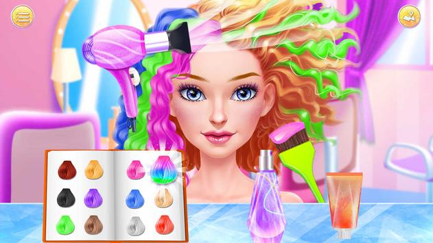 Hair Stylist Fashion Salon ❤ Rainbow Unicorn Hair screenshot 2