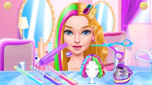 Hair Stylist Fashion Salon ❤ Rainbow Unicorn Hair screenshot 5
