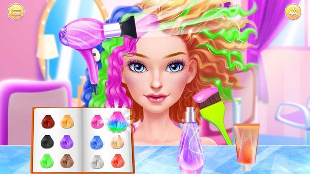 Hair Stylist Fashion Salon ❤ Rainbow Unicorn Hair screenshot 6