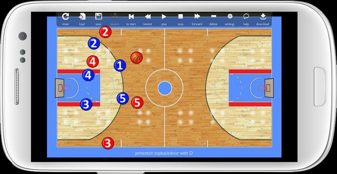 Basketball Play Designer and Coach Tactic Board Cartaz