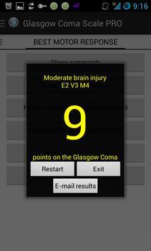 Escala de Coma Glasgow captura de pantalla 3