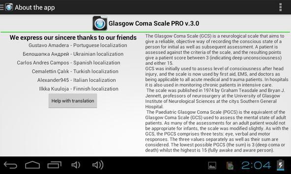 Escala de Coma Glasgow captura de pantalla 13