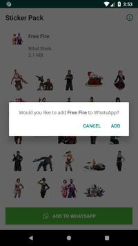 MyWAsticker - FreeFire screenshot 1