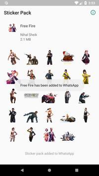 MyWAsticker - FreeFire screenshot 2