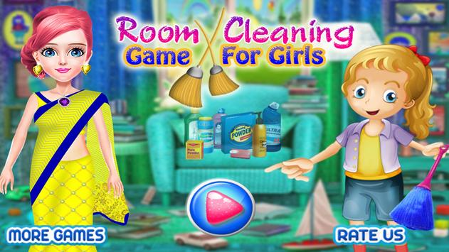 Room Cleaning Game for Girls poster