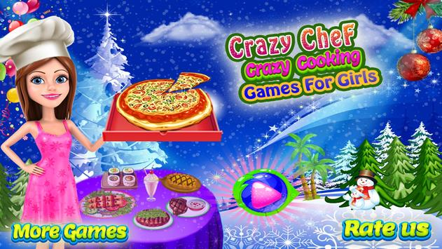 Crazy Chef Crazy Cooking - Games for Girls poster