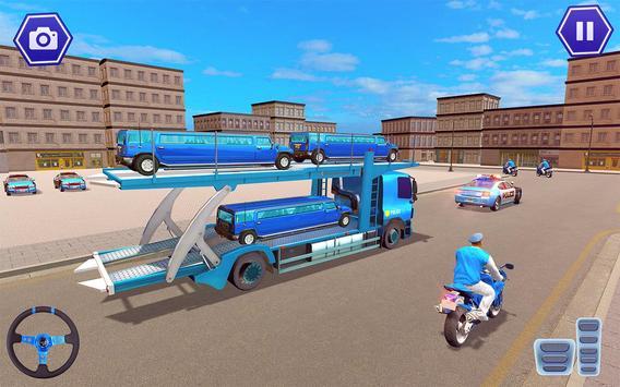 Police Plane Transport: Cruise Transport Games screenshot 5