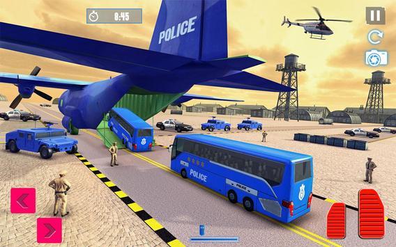 Police Plane Transport: Cruise Transport Games screenshot 9