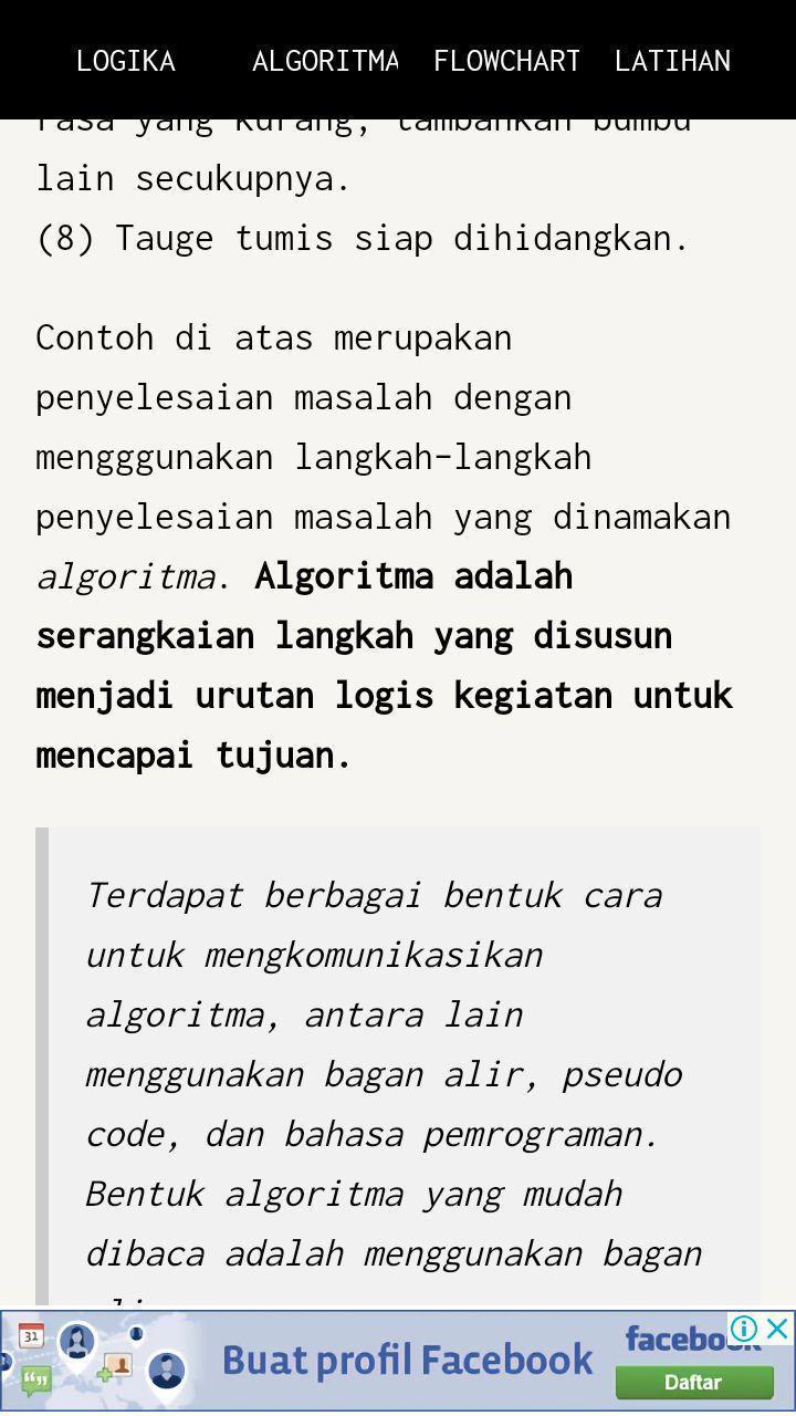 Logika dan Algoritma for Android - APK Download