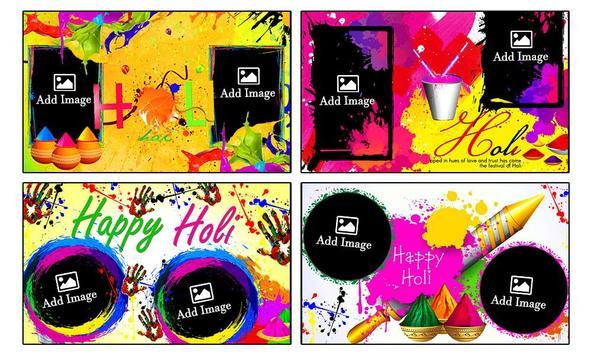 Holi Dual Photo Frames screenshot 6
