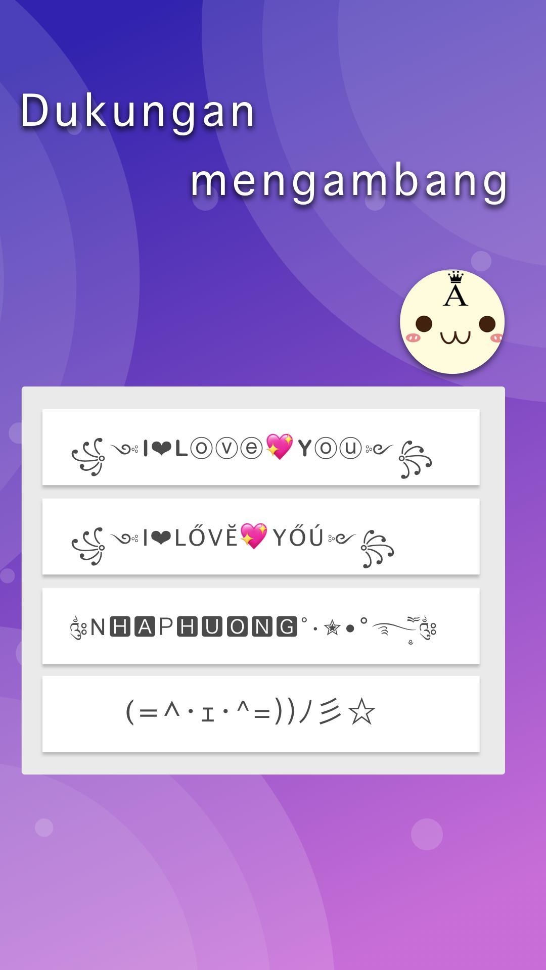 Simbol & Karakter Keren for Android - APK Download