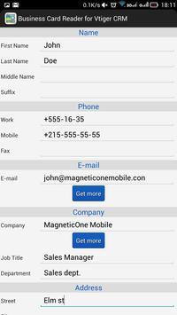 Business Card Reader for Vtiger CRM screenshot 16