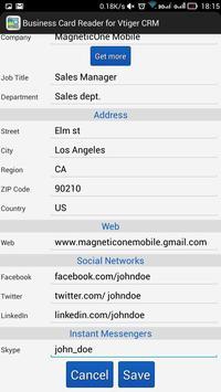 Business Card Reader for Vtiger CRM screenshot 17