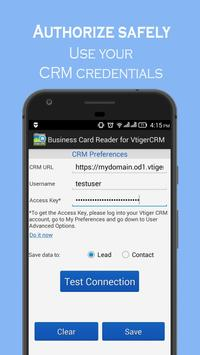 Business Card Reader for Vtiger CRM screenshot 1