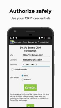 Business Card Reader for Zurmo CRM screenshot 1
