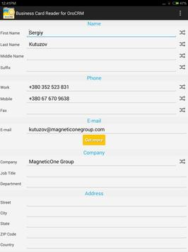 Business Card Reader for Oro CRM screenshot 11