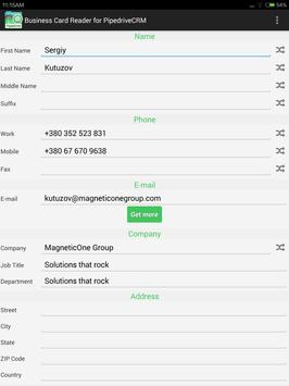 Pipedrive CRM Business Card Reader स्क्रीनशॉट 14
