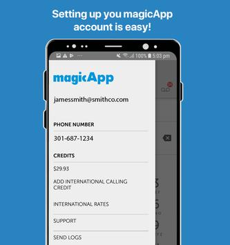 magicApp Calling & Messaging Poster