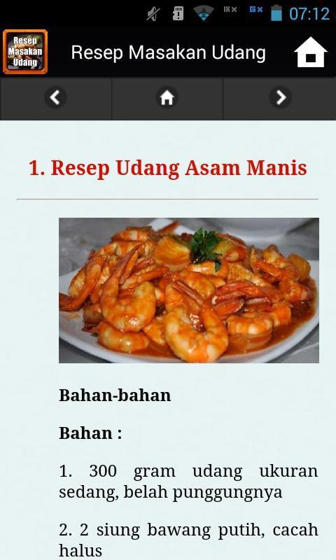 Android Icin Resep Masakan Udang Apk Yi Indir