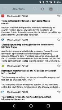 RSS Reader screenshot 1
