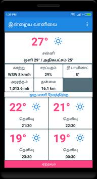 Today's weather In Tamil -  இன்றைய வானிலை poster
