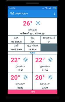 Today's weather In Telugu -  నేటి వాతావరణం screenshot 1