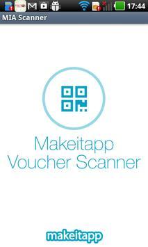 MakeItApp Voucher Scanner Cartaz