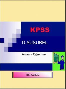 KPSS EĞİTİM BİLİMLERİ ÖĞRENME poster