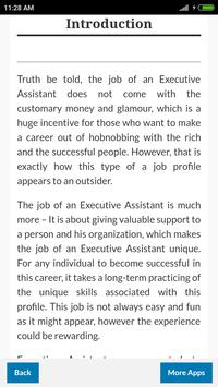 Learn Executive Assistant screenshot 1