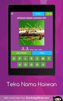 Teka Nama Haiwan screenshot 14
