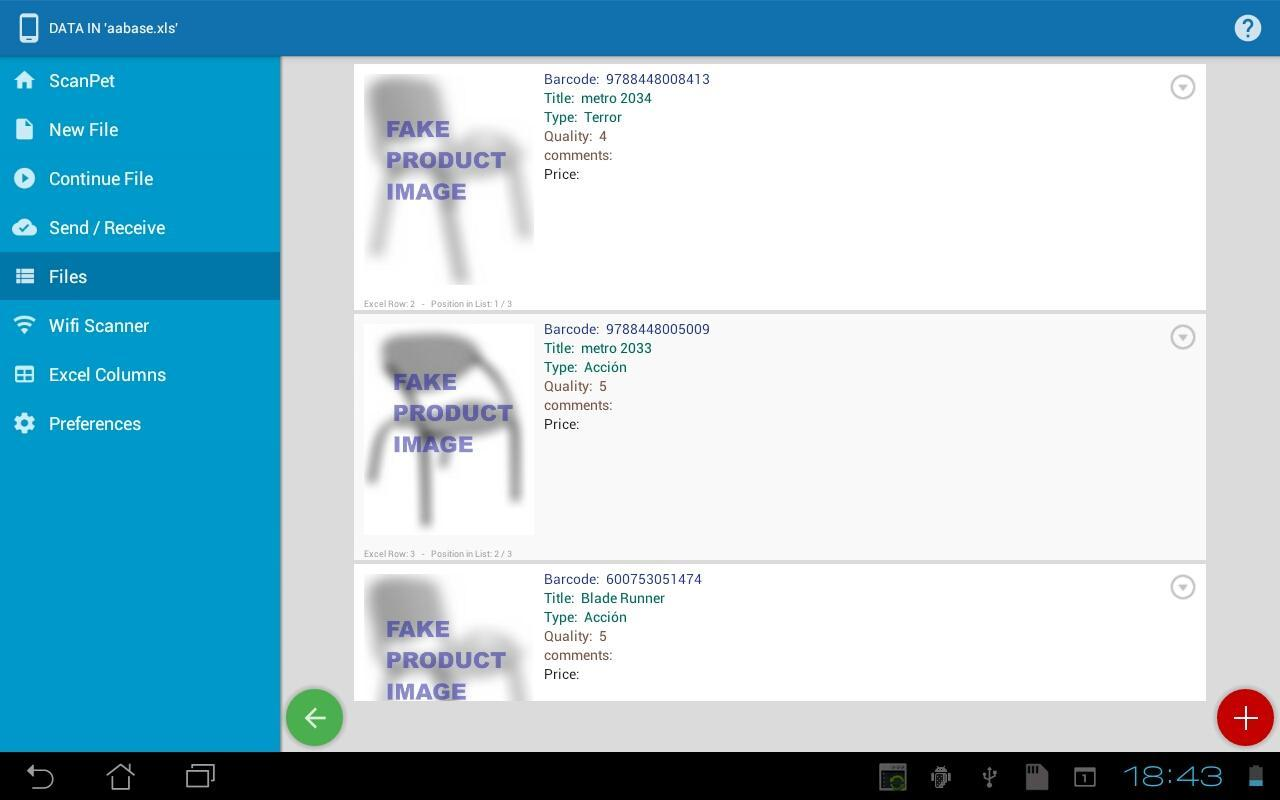 Inventory & barcode scanner & WIFI scanner for Android - APK