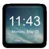 أداة الساعة الرقمية أيقونة