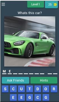 TOP DRIVER - car quiz poster