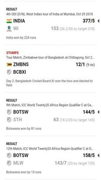 LIVE SCORE CRICKET REALTIME screenshot 1