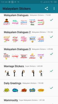 Malayalam Stickers screenshot 4