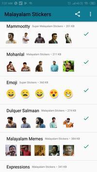 Malayalam Stickers screenshot 5