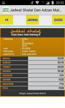 Jadwal Sholat dan Adzan Malang Jawa Timur poster