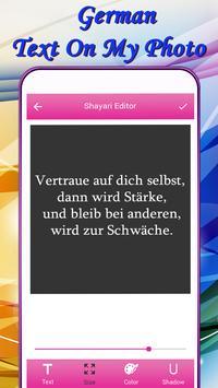 German Text On My Photo screenshot 2