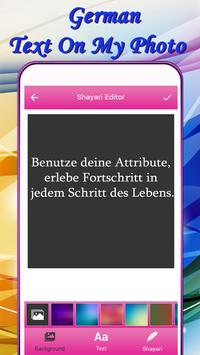 German Text On My Photo screenshot 3