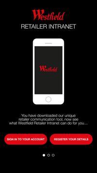 Westfield Retailer Intranet poster