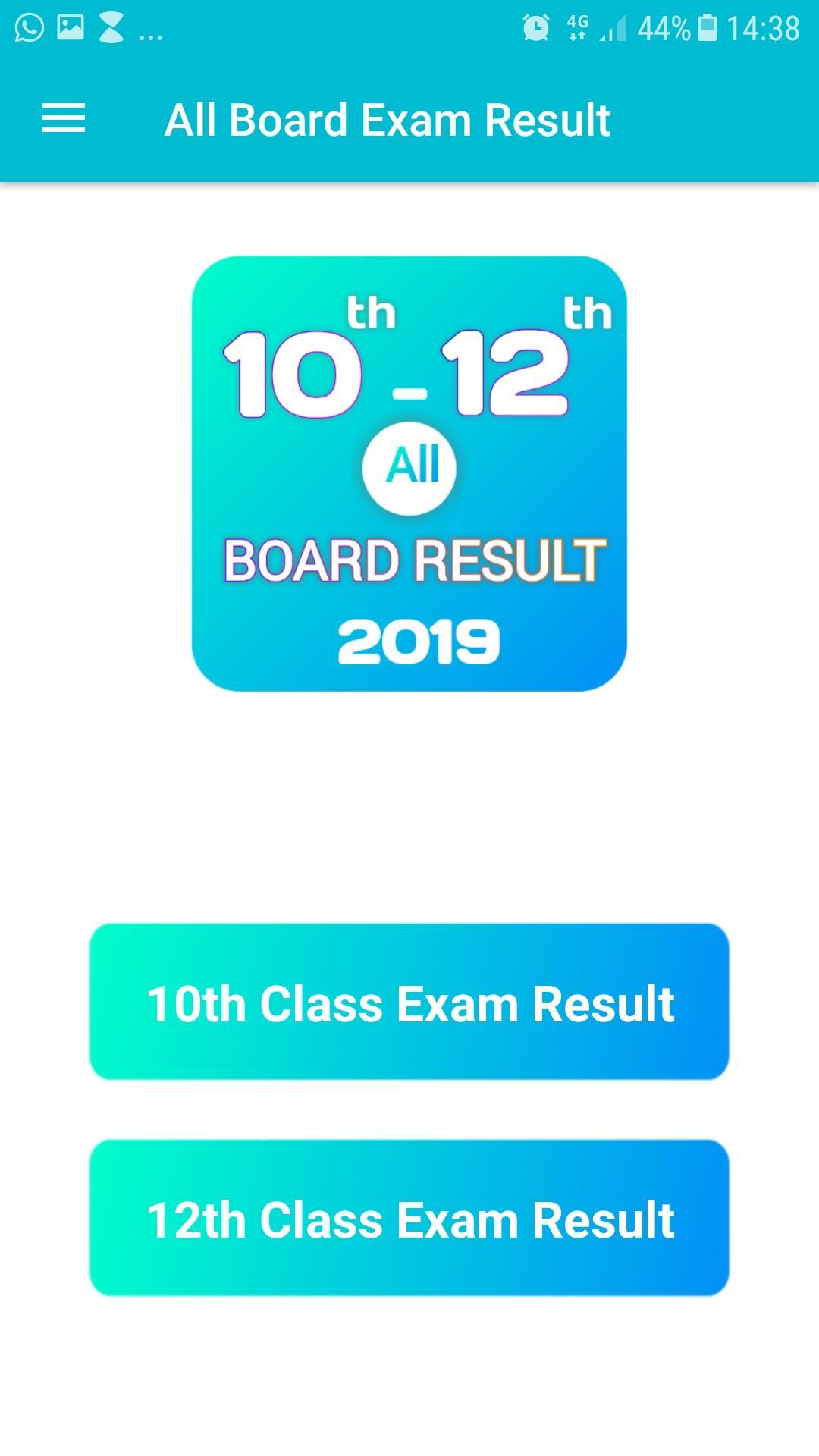 10th 12th Board Exam Result 2019 All India for Android - APK