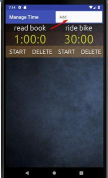 Manage Time (Multi Timer) screenshot 1