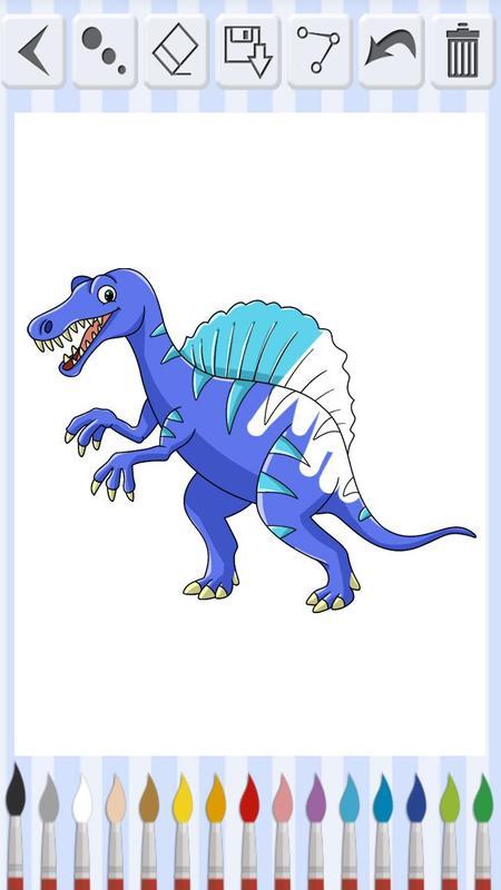 Libro Para Colorear Dinosaurios Juego De Pintar For Android Apk