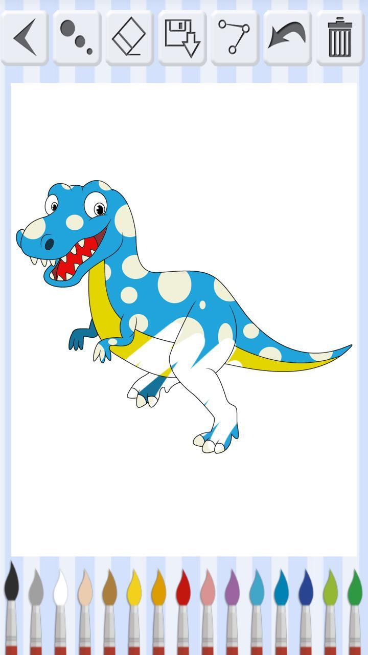 Android Icin Dinozor Boyama Kitabi Eglenceli Boyama Sayfalari